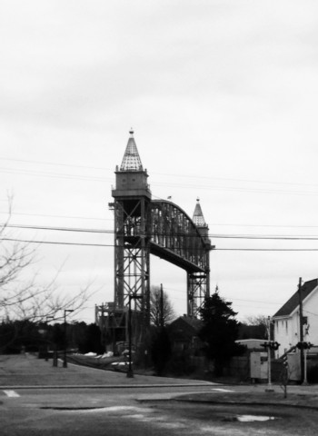 Train bridge over the canal