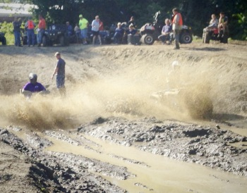 Into the mud pit with a big splash