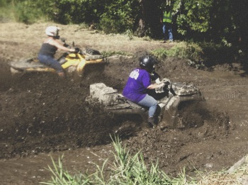 Churning through the mud pit