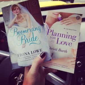 Paperback copies of Boomerang Bride and Planning for Love