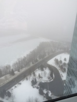 View of fog from 30th floor
