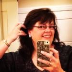 Selfie showing off shiny earrings