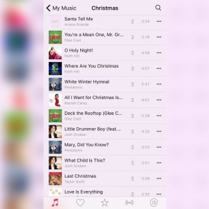 iTunes screenshot but songs are listed below