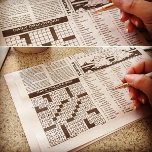 Picture of my completed crossword puzzle