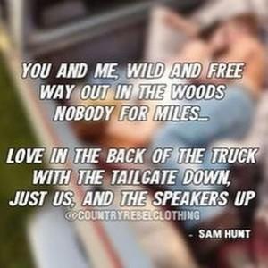 Sam Hunt lyrics graphic