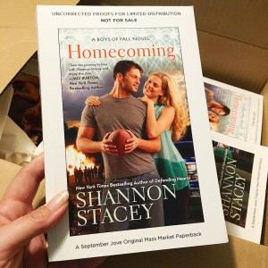 Photo of box of Homecoming ARCs