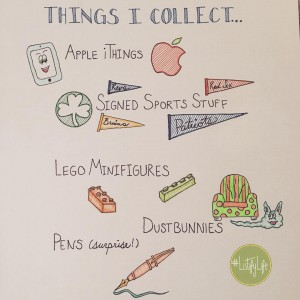 List of things I collect, listed below in text