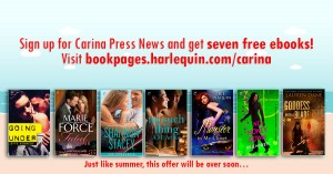 Sign up for Carina's newsletter and get 7 free books, listed below