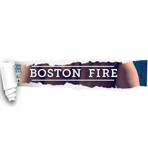 A sheet of white, with a piece pulled back to show a glimpse of Boston Fire book 4, but only the part that says Boston Fire
